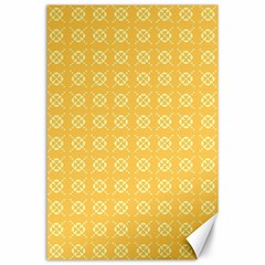 Yellow Pattern Background Texture Canvas 24  X 36