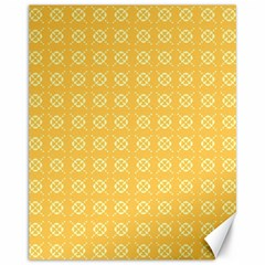 Yellow Pattern Background Texture Canvas 11  X 14
