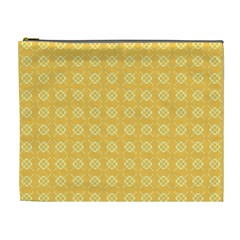 Yellow Pattern Background Texture Cosmetic Bag (xl) by BangZart