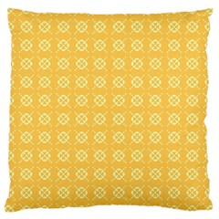 Yellow Pattern Background Texture Large Cushion Case (two Sides) by BangZart