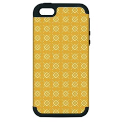 Yellow Pattern Background Texture Apple Iphone 5 Hardshell Case (pc+silicone) by BangZart