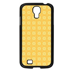 Yellow Pattern Background Texture Samsung Galaxy S4 I9500/ I9505 Case (black)