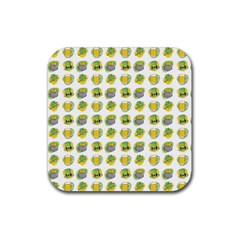 St Patrick S Day Background Symbols Rubber Coaster (square)  by BangZart
