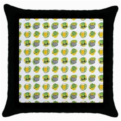 St Patrick S Day Background Symbols Throw Pillow Case (black) by BangZart