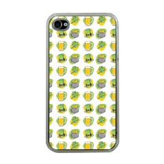 St Patrick S Day Background Symbols Apple Iphone 4 Case (clear)