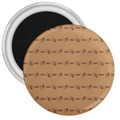 Brown Pattern Background Texture 3  Magnets by BangZart