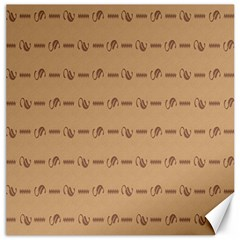 Brown Pattern Background Texture Canvas 16  X 16   by BangZart