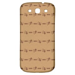 Brown Pattern Background Texture Samsung Galaxy S3 S Iii Classic Hardshell Back Case by BangZart