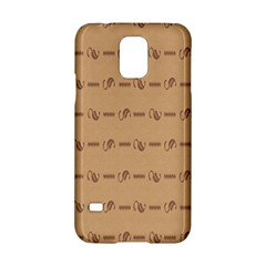 Brown Pattern Background Texture Samsung Galaxy S5 Hardshell Case  by BangZart