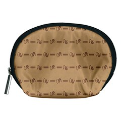 Brown Pattern Background Texture Accessory Pouches (medium)  by BangZart