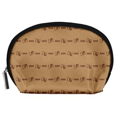 Brown Pattern Background Texture Accessory Pouches (large)  by BangZart