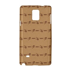 Brown Pattern Background Texture Samsung Galaxy Note 4 Hardshell Case by BangZart