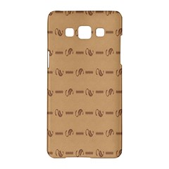 Brown Pattern Background Texture Samsung Galaxy A5 Hardshell Case  by BangZart