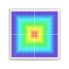 Square Rainbow Pattern Box Memory Card Reader (square)  by BangZart
