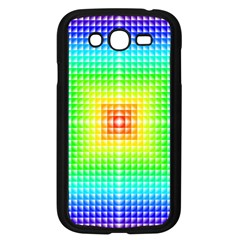 Square Rainbow Pattern Box Samsung Galaxy Grand Duos I9082 Case (black) by BangZart