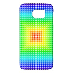 Square Rainbow Pattern Box Galaxy S6 by BangZart