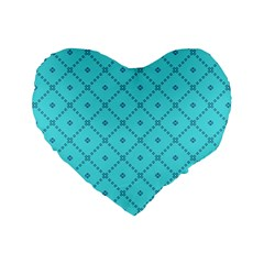 Pattern Background Texture Standard 16  Premium Heart Shape Cushions by BangZart
