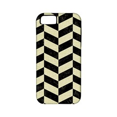 Chevron1 Black Marble & Beige Linen Apple Iphone 5 Classic Hardshell Case (pc+silicone) by trendistuff