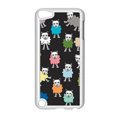 Sheep Cartoon Colorful Black Pink Apple Ipod Touch 5 Case (white) by BangZart
