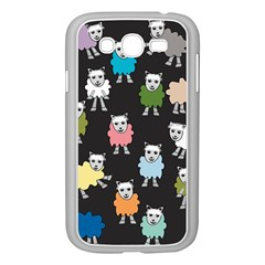 Sheep Cartoon Colorful Black Pink Samsung Galaxy Grand Duos I9082 Case (white) by BangZart