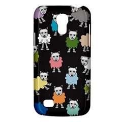 Sheep Cartoon Colorful Black Pink Galaxy S4 Mini by BangZart