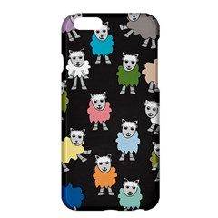 Sheep Cartoon Colorful Black Pink Apple Iphone 6 Plus/6s Plus Hardshell Case