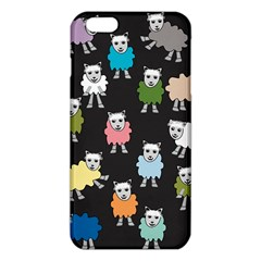 Sheep Cartoon Colorful Black Pink Iphone 6 Plus/6s Plus Tpu Case by BangZart
