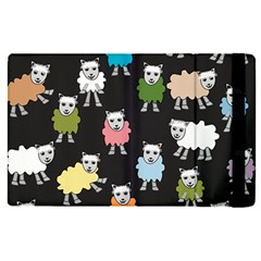 Sheep Cartoon Colorful Black Pink Apple Ipad Pro 12 9   Flip Case by BangZart