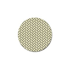 Brick2 Black Marble & Beige Linen (r) Golf Ball Marker (4 Pack) by trendistuff