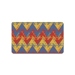 Aztec South American Pattern Zig Magnet (name Card) by BangZart