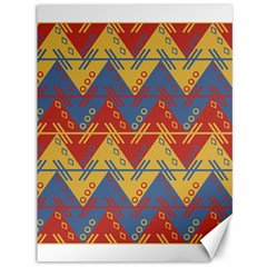 Aztec South American Pattern Zig Canvas 36  X 48   by BangZart