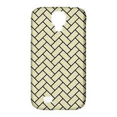 Brick2 Black Marble & Beige Linen (r) Samsung Galaxy S4 Classic Hardshell Case (pc+silicone) by trendistuff