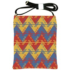 Aztec South American Pattern Zig Shoulder Sling Bags by BangZart