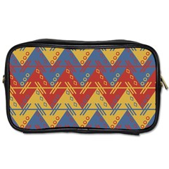 Aztec South American Pattern Zig Toiletries Bags 2 Side by BangZart