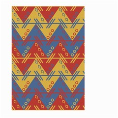 Aztec South American Pattern Zig Large Garden Flag (two Sides) by BangZart