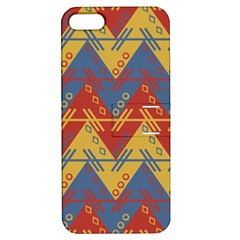 Aztec South American Pattern Zig Apple Iphone 5 Hardshell Case With Stand
