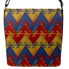Aztec South American Pattern Zig Flap Messenger Bag (s)