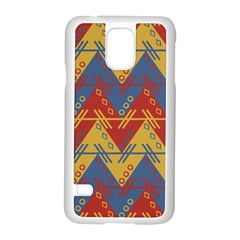 Aztec South American Pattern Zig Samsung Galaxy S5 Case (white)