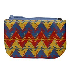 Aztec South American Pattern Zig Large Coin Purse by BangZart