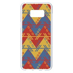 Aztec South American Pattern Zig Samsung Galaxy S8 Plus White Seamless Case
