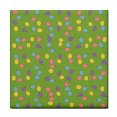 Balloon Grass Party Green Purple Tile Coasters by BangZart
