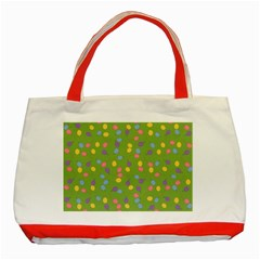 Balloon Grass Party Green Purple Classic Tote Bag (red) by BangZart