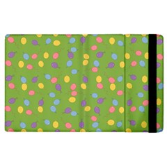 Balloon Grass Party Green Purple Apple Ipad 3/4 Flip Case by BangZart