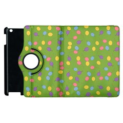 Balloon Grass Party Green Purple Apple Ipad 2 Flip 360 Case by BangZart