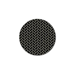 Brick2 Black Marble & Beige Linen Golf Ball Marker (10 Pack) by trendistuff