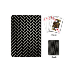 Brick2 Black Marble & Beige Linen Playing Cards (mini)  by trendistuff