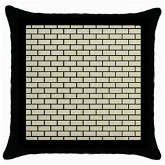 Brick1 Black Marble & Beige Linen (r) Throw Pillow Case (black) by trendistuff