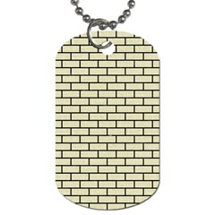 Brick1 Black Marble & Beige Linen (r) Dog Tag (one Side) by trendistuff