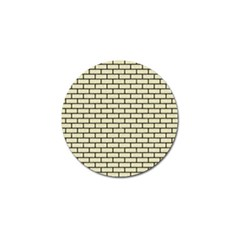 Brick1 Black Marble & Beige Linen (r) Golf Ball Marker by trendistuff
