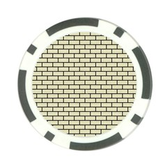 Brick1 Black Marble & Beige Linen (r) Poker Chip Card Guard (10 Pack) by trendistuff
